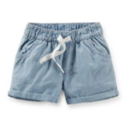 Carter's® Chambray Poplin Shorts – Girls 2t-5t