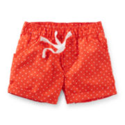 Carter's® Red Polka Dot Poplin Shorts – Girls 2t-5t