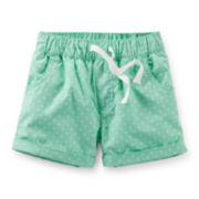 Carter's® Mint Polka Dot Poplin Shorts – Girls 2t-5t