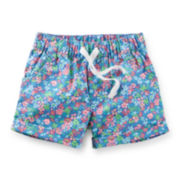 Carter's® Floral-Print Poplin Shorts – Girls 2t-5t