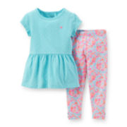 Carter's® Short-Sleeve Peplum Top and Leggings Set – Girls 2t-5t