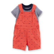 Carter's® 2-Piece French Terry Shortall Set - Boys Newborn-24m