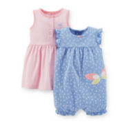 Carter's® 2-piece Dress & Romper Set – Girls newborn-24m
