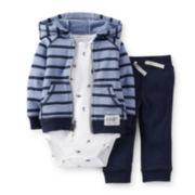 Carter's® Hoodie, Bodysuit and Pants Set – Boys newborn-24m