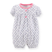 Carter's® Short-Sleeve Anchor-Print Creeper - Girls newborn-24m