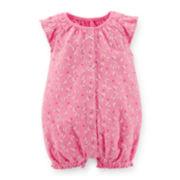 Carter's® Flutter-Sleeve Butterfly-Print Creeper - Girls newborn-24m