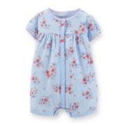 Carter's® Short-Sleeve Floral-Print Creeper - Girls newborn-24m