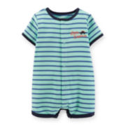 Carter's® Short-Sleeve Striped Creeper – Boys newborn-24m