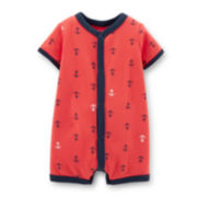 Carter's® Short-Sleeve Anchor-Print Creeper – Boys newborn-24m