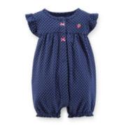 Carter's® Flutter-Sleeve Polka Dot Creeper – Girls newborn-24m