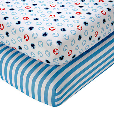 jcpenney com   Disney Mickey Mouse Fitted Crib Sheets. Disney Mickey 2 Pack Sheet Set