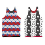 Reversible Flag Mesh Tank Top