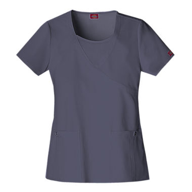 jcpenney.com | Dickies® Womens Mock Wrap Scrub Top