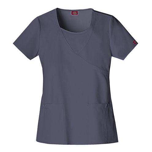 Dickies® Womens Mock Wrap Scrub Top