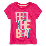 Xersion™ Short-Sleeve Graphic Knit Tee – Girls 7-16 and Plus