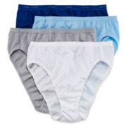 Hanes® 4-pk. Platinum Cotton High-Cut Panties