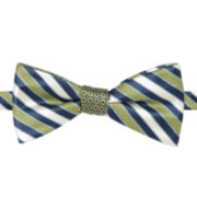Stafford® Ranger Stripe Contrast Knot Pre-Tied Bow Tie