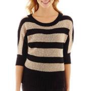 by&by Dolman-Sleeve Striped Sweater