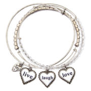 "Messages from the Heart® by Sandra Magsamen® ""Live Love Laugh"" 3-pc. Bangle Set"