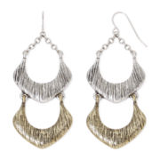 Mixit™ Gold-Tone and Silver-Tone Openwork Drop Earrings