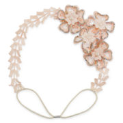 Decree® Floral Decal Pink Lace Head Wrap