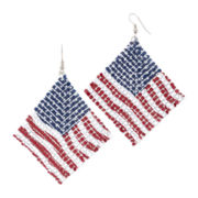 Decree® Mesh Flag Drop Earrings