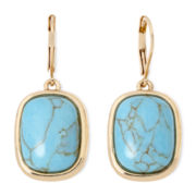 Monet® Blue Gold-Tone Drop Earrings