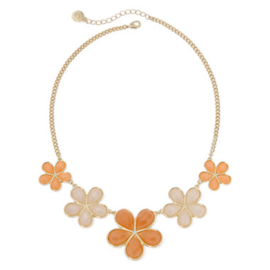 jcpenney.com | Liz Claiborne® Oversized Peach Stone Gold-Tone Collar Necklace