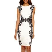 R&K Originals® Sleeveless Floral Print Sheath Dress