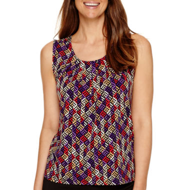 jcpenney.com | Black Label by Evan-Picone Sleeveless Printed Blouse