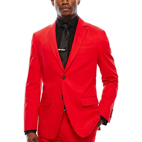 JF J. Ferrar® Cabret Red Stretch Sport Coat - Slim Fit