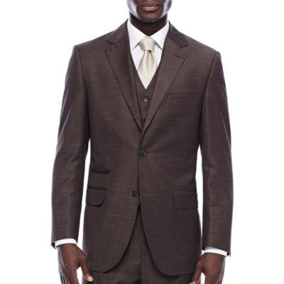 Steve Harvey® Brown Shantung Suit Jacket