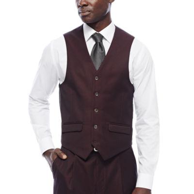 Steve Harvey® Merlot Suit Vest