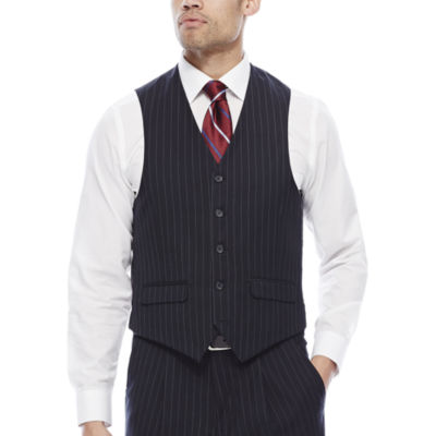 Steve Harvey® Navy Striped Suit Vest