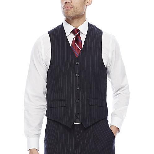 Steve Harvey® Navy Striped Suit Vest