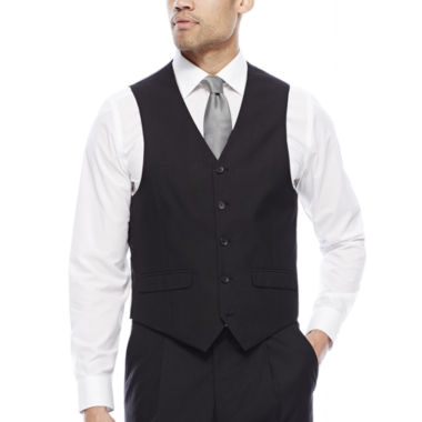 jcpenney.com | Steve Harvey® Black Herringbone Suit Vest