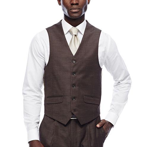 Steve Harvey® Brown Shantung Vest