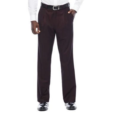 jcpenney.com | Steve Harvey® Merlot Pleated Pants