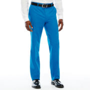 JF J. Ferrar® Mykonos Blue Stretch Flat-Front Dress Pants - Slim Fit