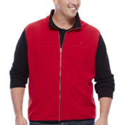 IZOD® Full-Zip Polar Fleece Vest - Big & Tall