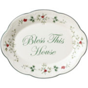 Pfaltzgraff® Winterberry Bless This House Oval Serving Platter