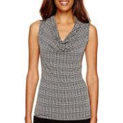 Worthington® Sleeveless Cowlneck Shirt - Tall