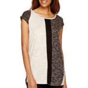 Worthington® Edition Short-Sleeve Colorblock Top