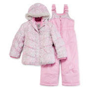 ZeroXposur® Jacket and Snow Bib - Toddler Girls 2t-4t
