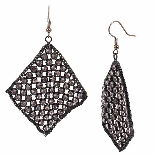 Bleu NYC Sequin Kite Drop Earrings