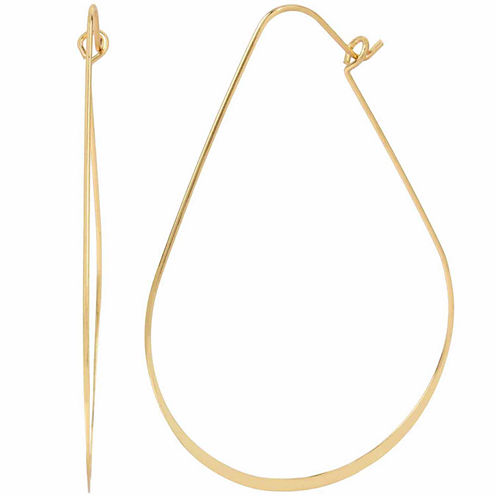 Bleu NYC Wire Oval Hoop Earrings