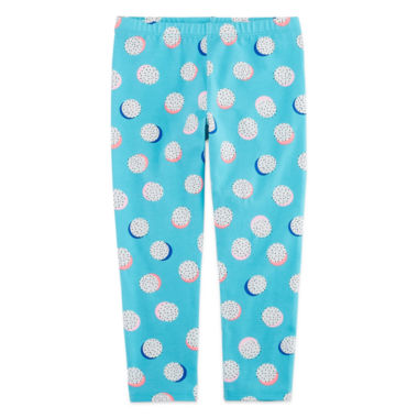 jcpenney.com | Okie Dokie Solid Knit Print Leggings - Toddler