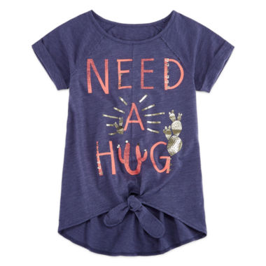 jcpenney.com | Arizona Tie Front Graphic Top - Girls 7-16 and Plus