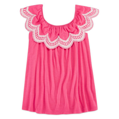 jcpenney.com | Arizona Off Shoulder Scalloped Top - Girls 7-16 and Plus
