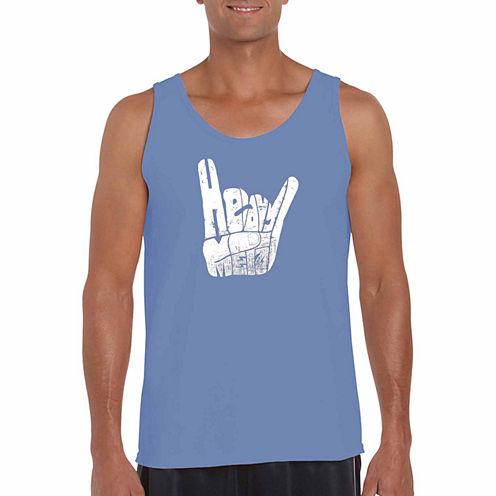 "Los Angeles Pop Art Short Sleeve ""Heavy Metal"" T-Shirt-Big And Tall"